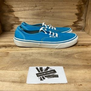 Vans off the wall low blue white sneakers shoes